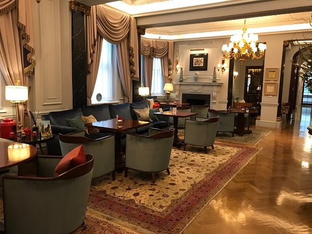 The lounge at The Stafford