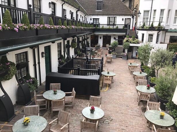 The Stafford hotel London outside terrace