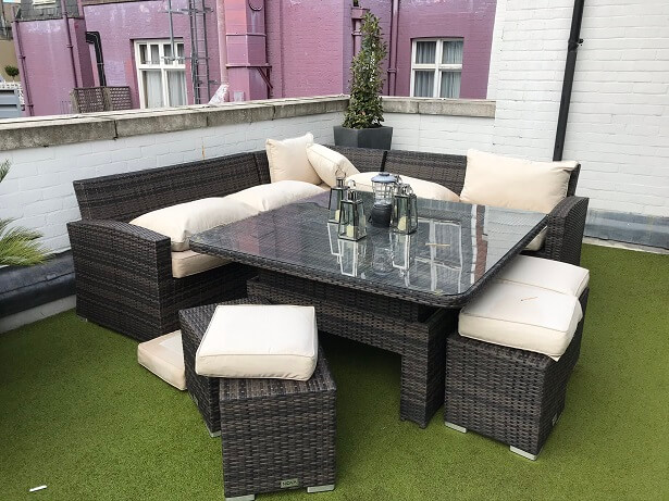 The private terrace at the Penthouse Suite