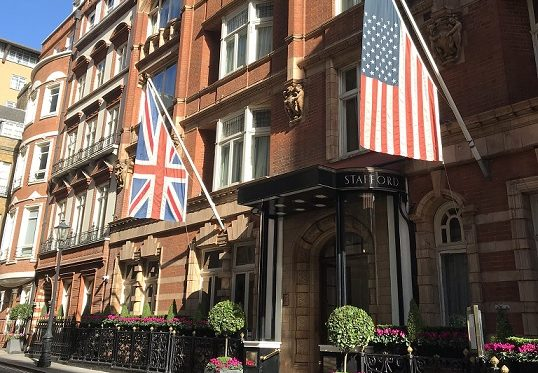 A luxurious stay at the five-star Stafford hotel London