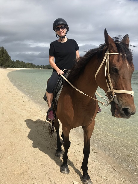 Me and my horse, Ration, riding along the deserted Riambel beach