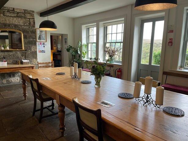 Arvon Foundation Lumb Bank dining room